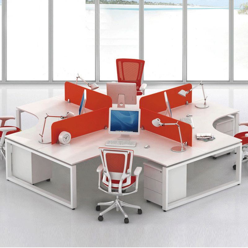 Guangzhou office furniture desk screen desk staff minimalist modern portfolio 4 6 person staff office furniture