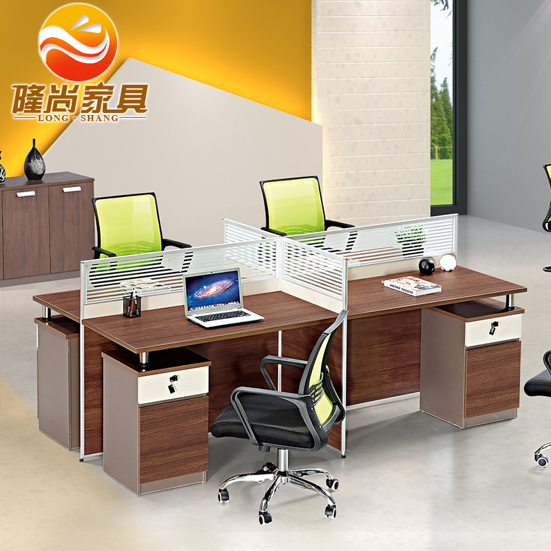 Guangzhou office furniture desk staff office furniture work stations 6 screen staff tables 4 digit desk spot