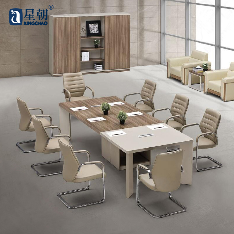 Guangzhou office furniture fashion towards staff meeting to discuss parlor tables training tables long table desk computer desk