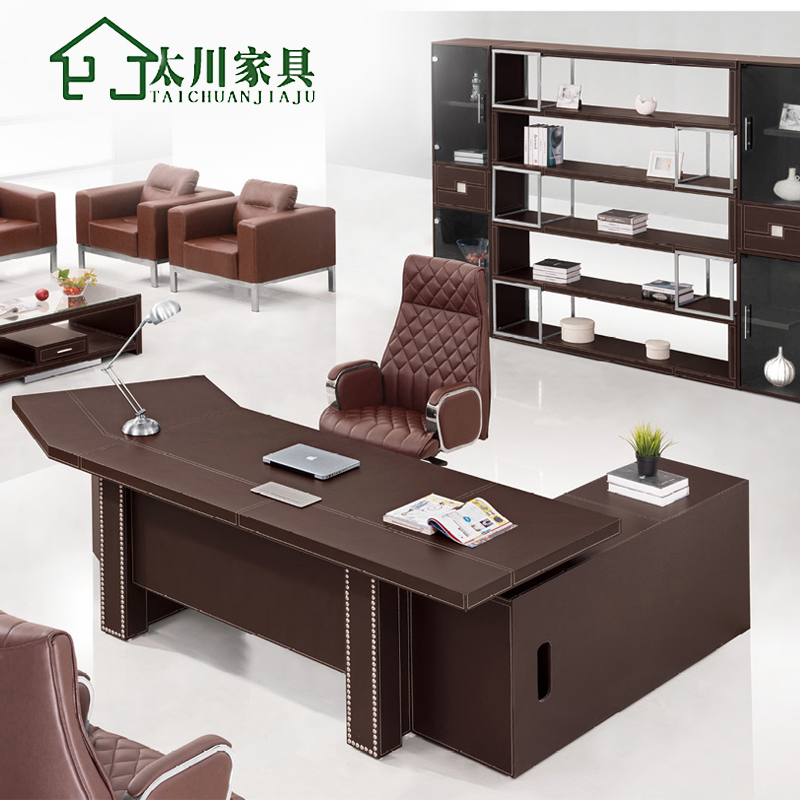 Guangzhou office furniture minimalist modern wood boss desk desk desk desk desk supervisor boss desk desk desk by management