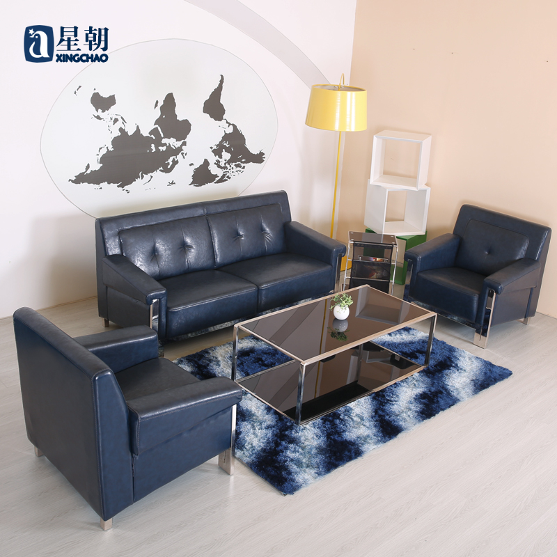 Guangzhou office furniture modern minimalist office sofa business reception to discuss parlor sofa/coffee table set in