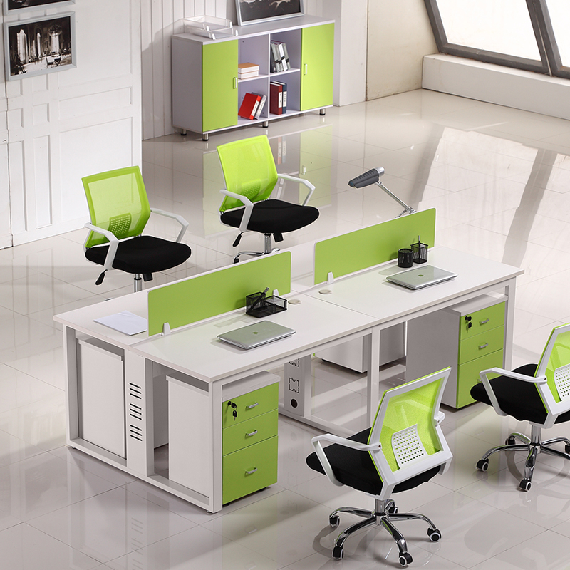 Guangzhou office furniture office wall staff tables and chairs combination of modern minimalist 4 bit computer desk staff deck