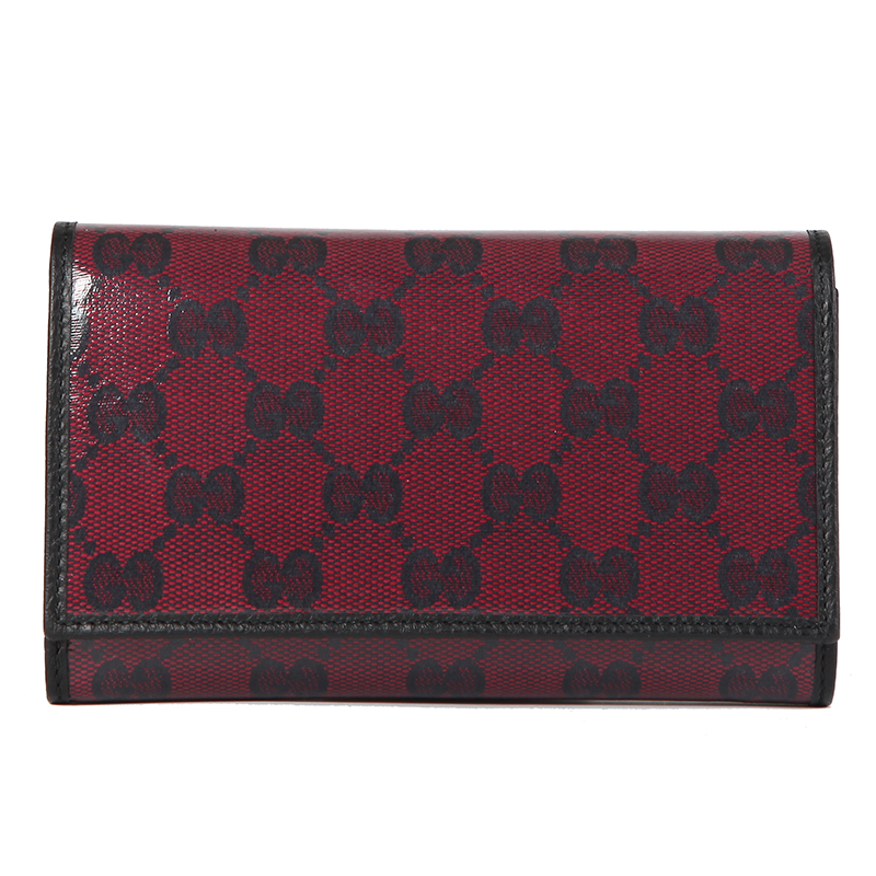 Gucci/gucci genuine new crystal embossed leather wallet ms. long wallet 263114