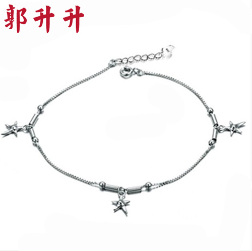 design anklet creative solid anklets women item jewelry silver crown popular sterling s lady pendant foot