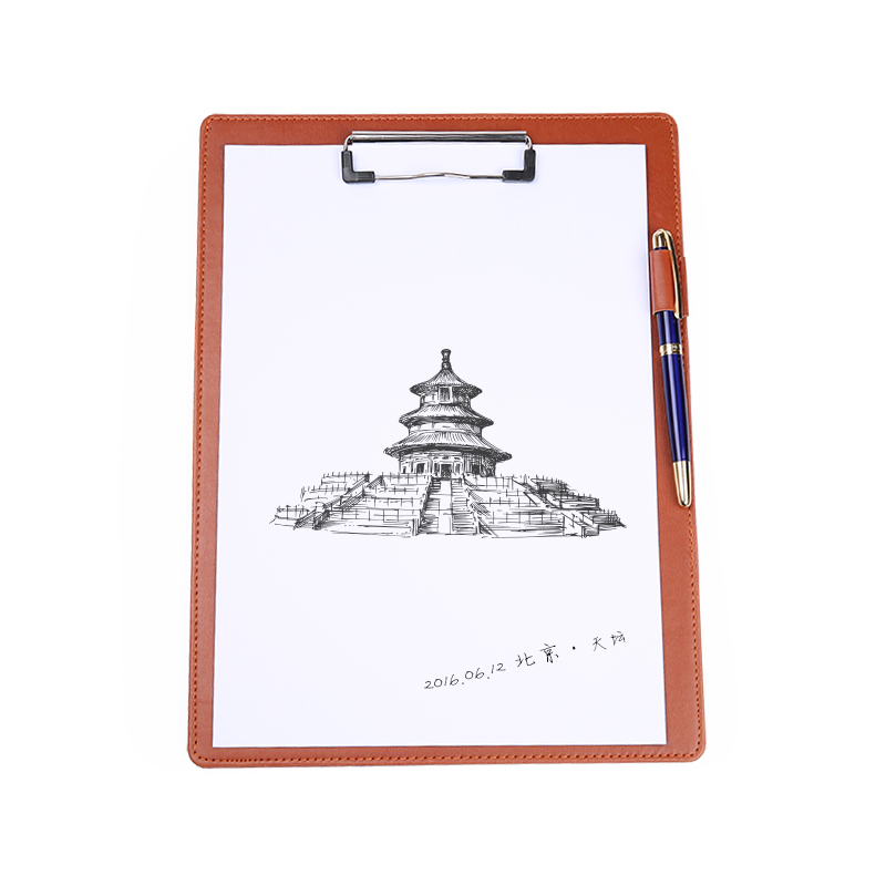 Guojun all stroke signature signing clip clip board clip file folder a4 notepad business office conference hotel a la carte folder pad writing pad folder