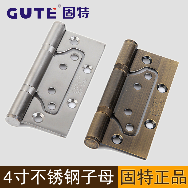 Gute gute 304d stainless steel paint the door 4 inch 3.0 free slotted picture hinge door hinge a