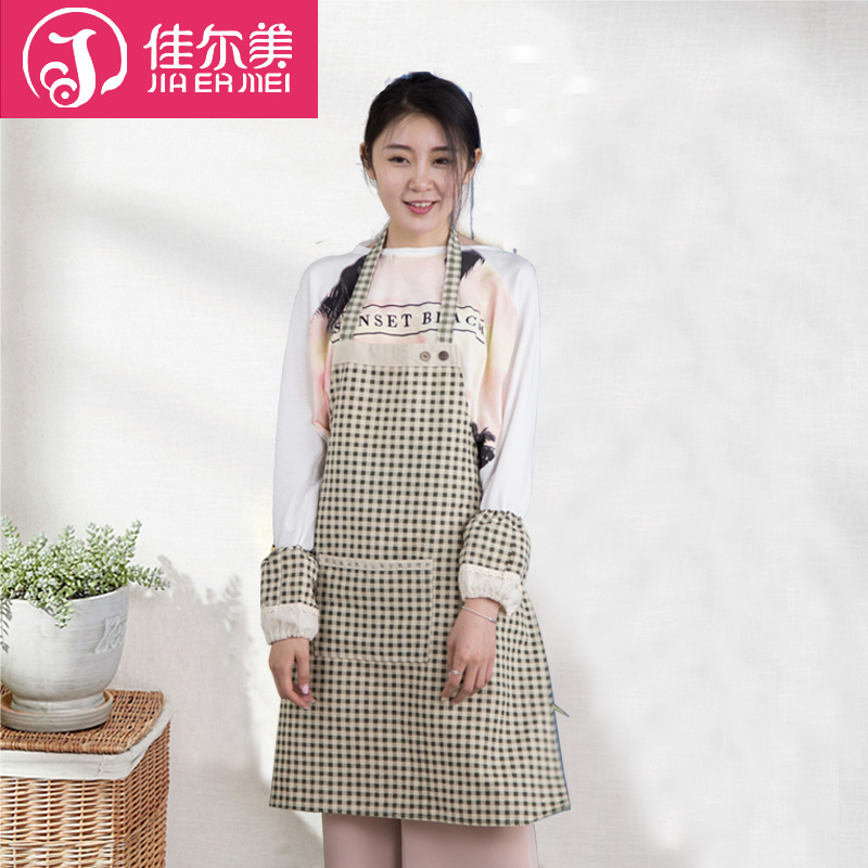 Guy us oil stain sleeveless apron thick plaid cotton kitchen apron aprons home department zakka day overclothes