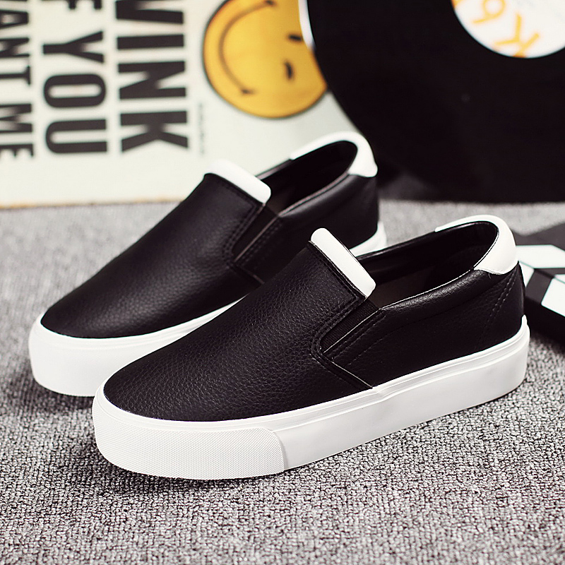 Ha sin autumn new women's flat shoes set foot comfort shoes korean version spell color shoes when shang xuesheng casual white shoes