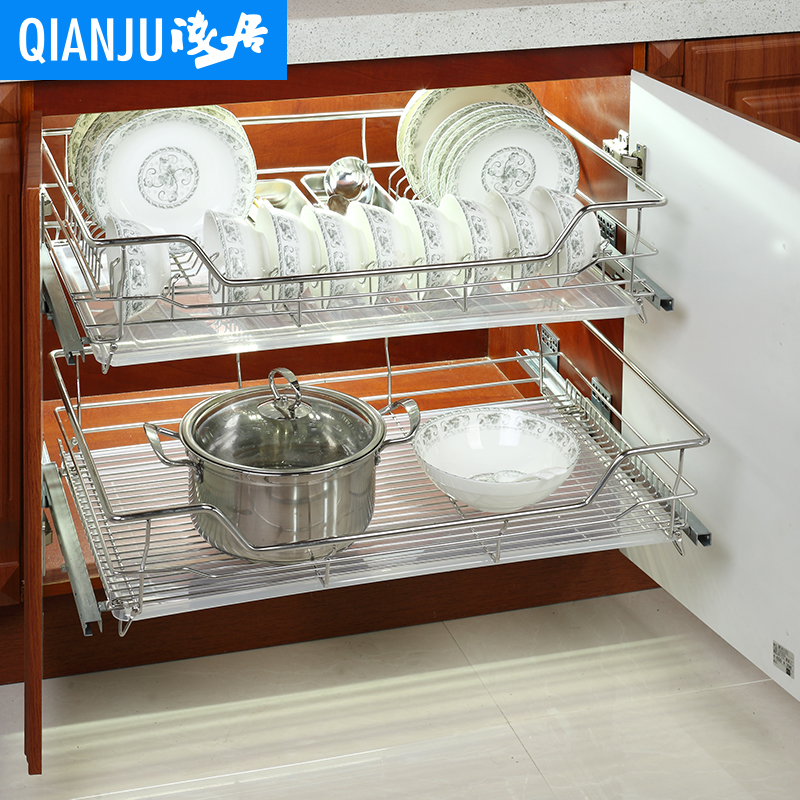 Habitat shallow 304 stainless steel kitchen cabinets baskets baskets baskets single bowl kitchen seasoning basket baskets
