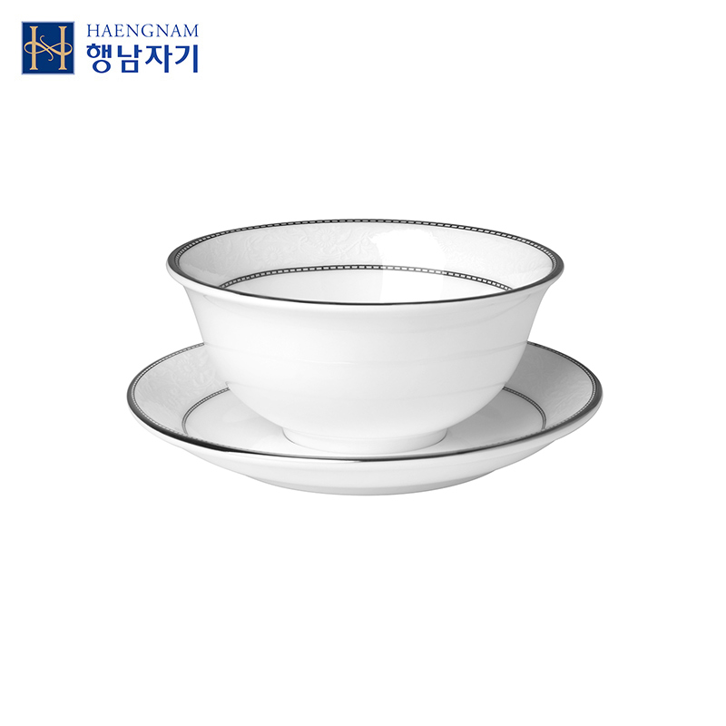 Haengnam han guoxing south snow open mouth small cup bone china porcelain saucer ordinary packaging