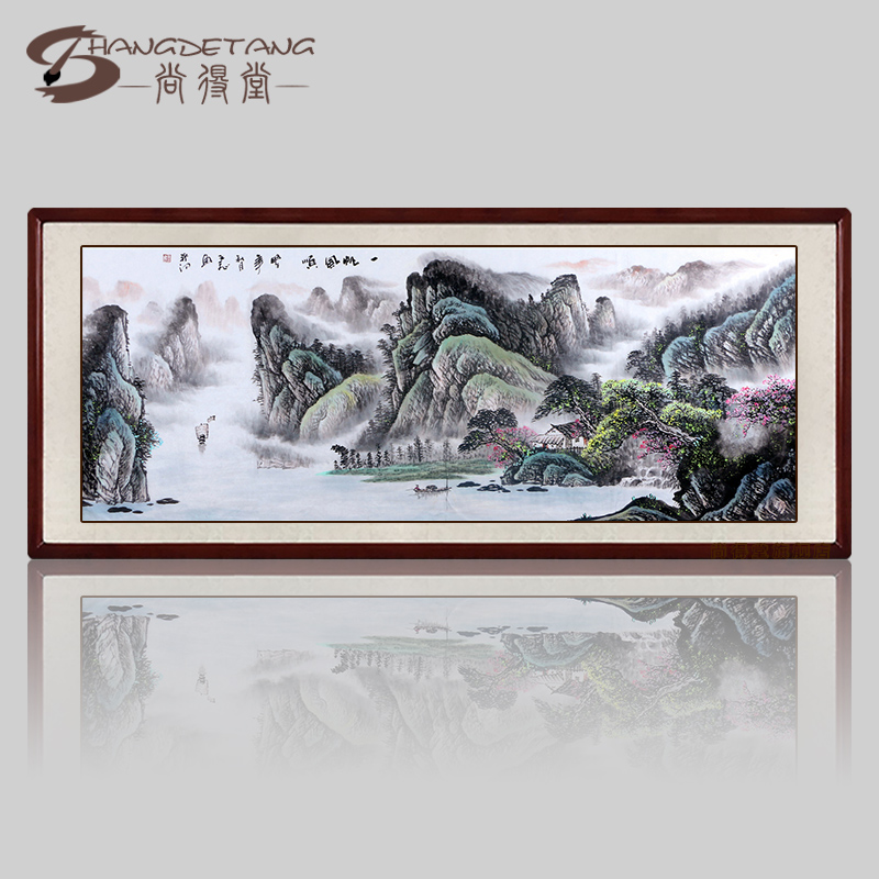 Hall was still pure hand painted chinese painting landscapes paintings ink painting decorative painting the living room office calligraphy and painting banners
