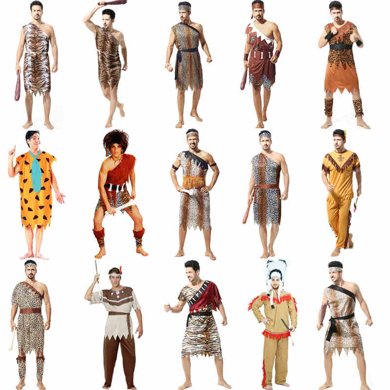 Halloween costume cosplay costumes adult men's clothes savage indians indigenous african original starting
