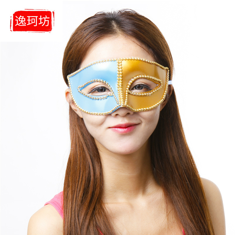 Halloween half face mask flat head mask female princess masquerade mask venetian mask cosplay props children