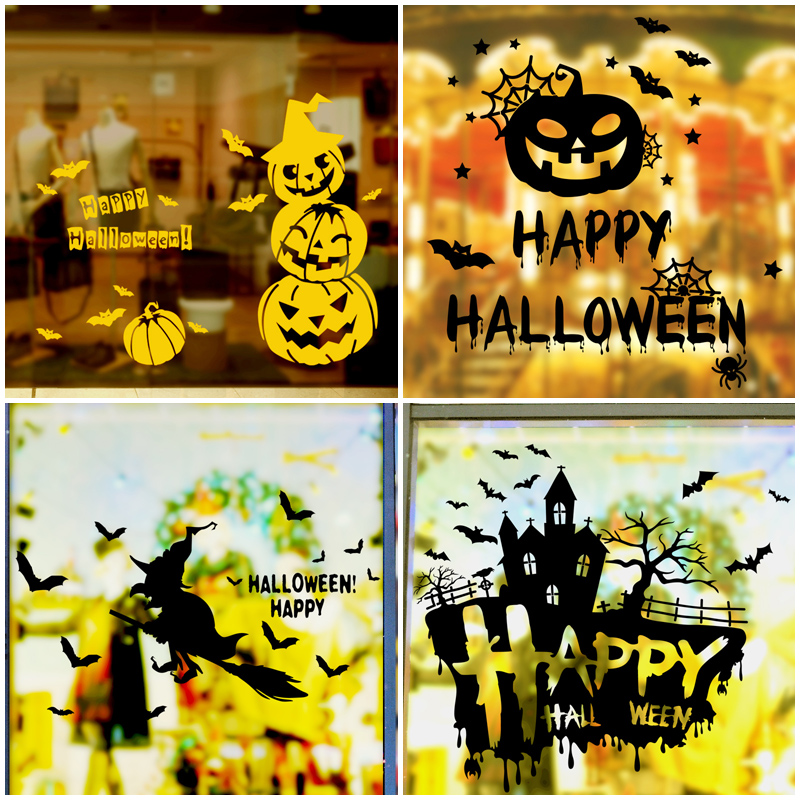 get quotations halloween halloween decorations shop layout mall storefront bar ktv wall stickers window stickers glass door stickers - Solar Halloween Decorations
