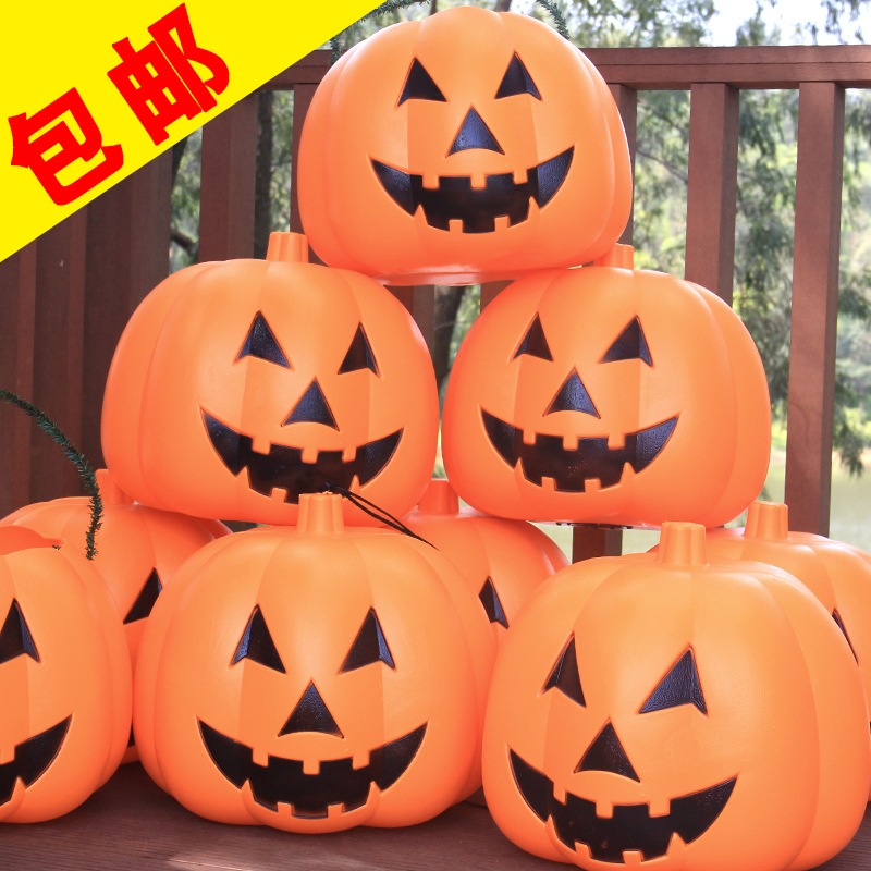Halloween pumpkin bucket large king modeling lamp luminous voice pumpkins bar decorative props activities