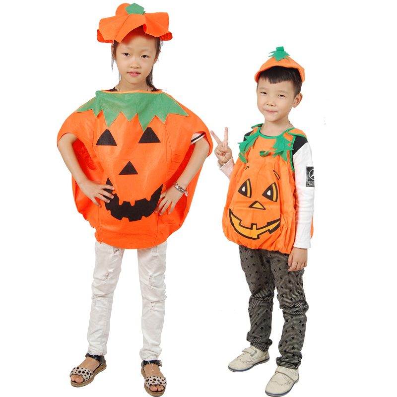 Halloween pumpkin shape children's costumes masquerade dress clothes pumpkin pumpkin pumpkin hat clothes free shipping