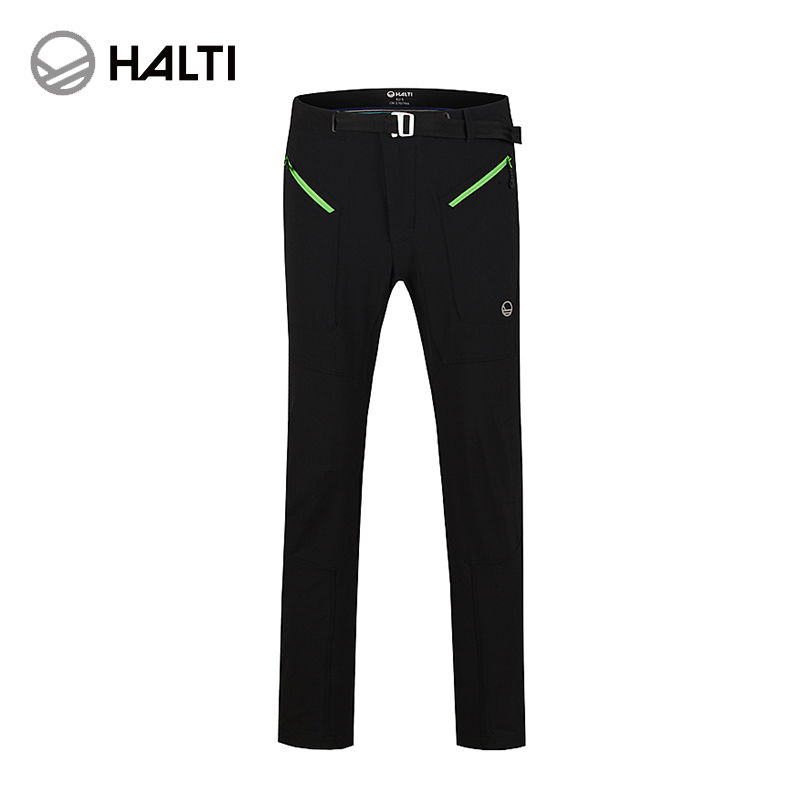 Halti/hal di 2016 autumn and winter men's outdoor warm windproof stretch soft shell pants H100-0061