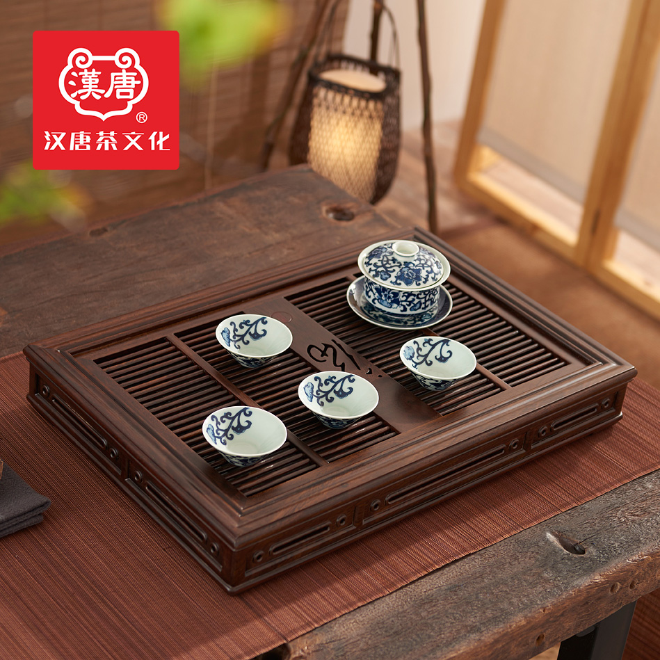 Han and tang dynasties archaized imported wood wood tea tray tea sets tea sea water storage and drainage kung fu tea saucer specials