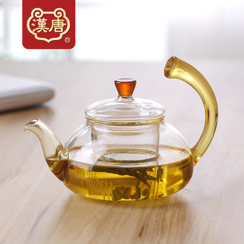 Han and tang tea green tea glass tea pot teapot glass handle high temperature resistant filter multifunction health pot of tea