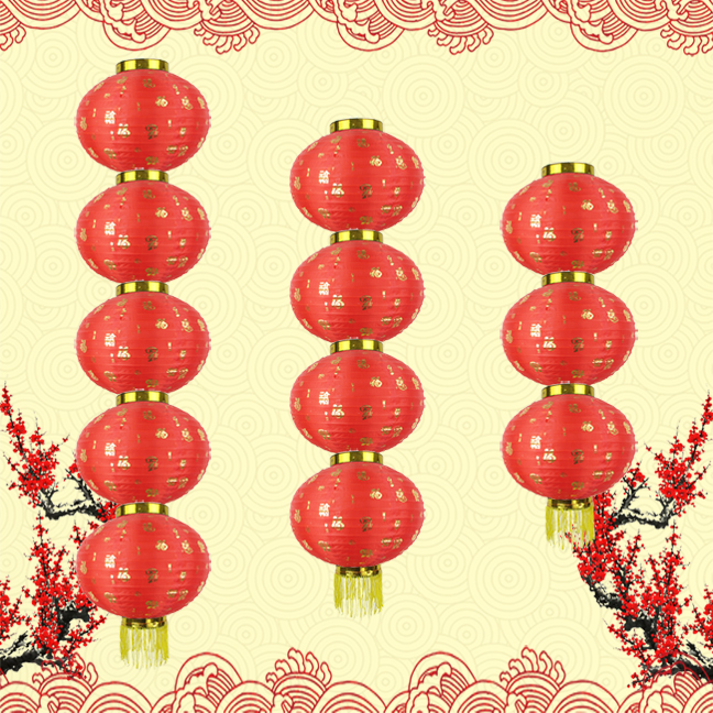 Han tang lanterns bedford round lantern string festive red lanterns decorated with red lanterns advertising lanterns