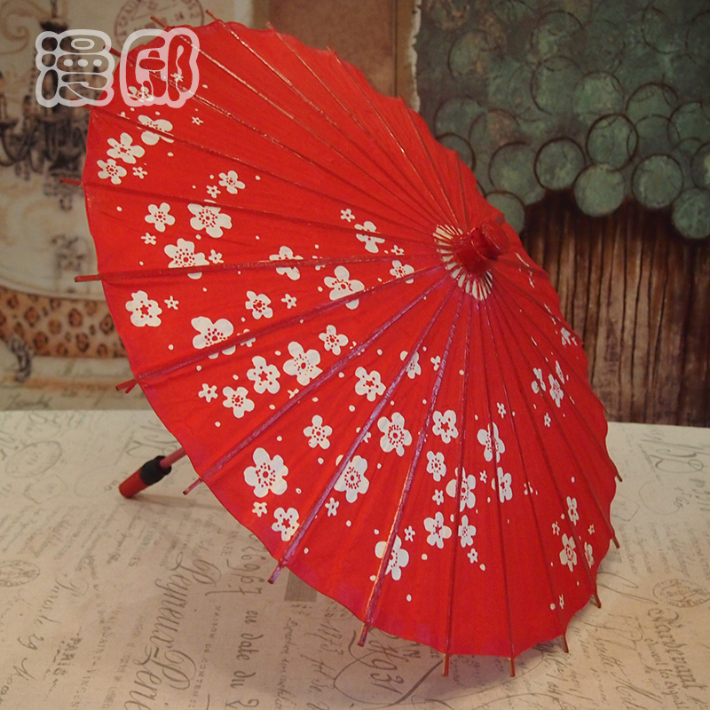 Handmade ancient red antique tung oil paper umbrella dance umbrella craft decorative props umbrella umbrella umbrella performances retro home decoration