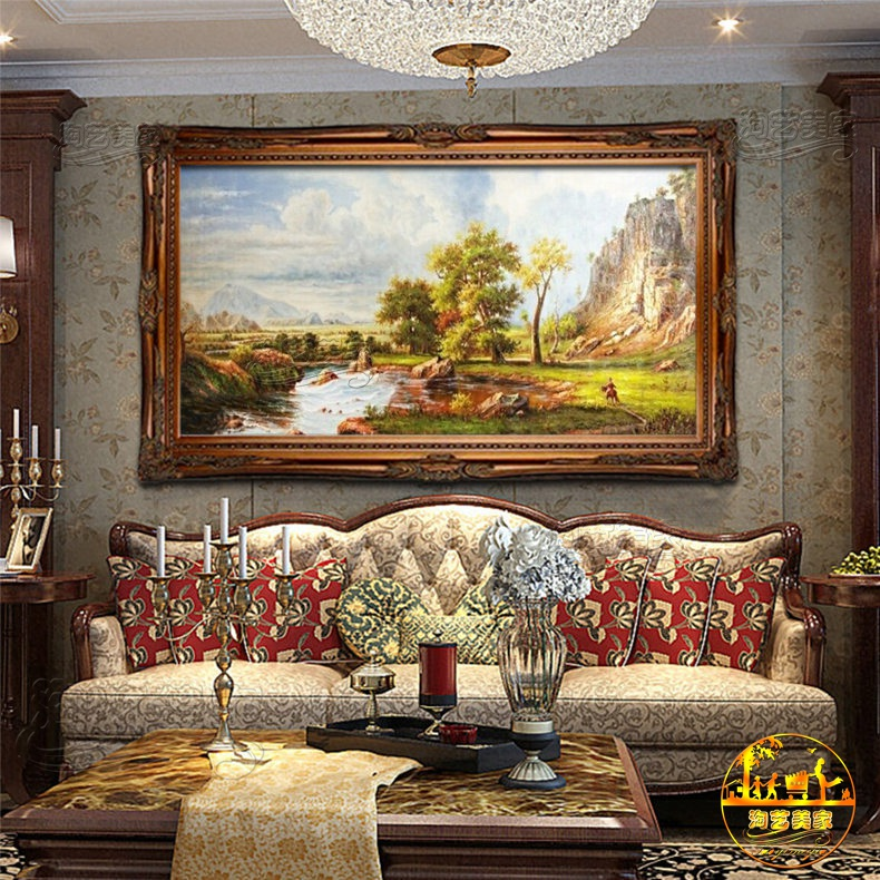 Handmade decorative painting the living room landscape of pure hand painted oil painting us european landscapes xuan off FJ1780 authentic paintings