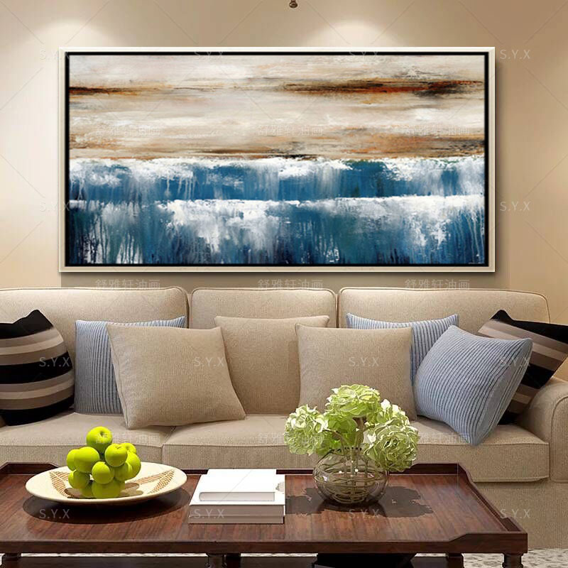 Handmade oil painting decorative painting modern living room minimalist fashion den hotel wall painting wall painting abstract paintings