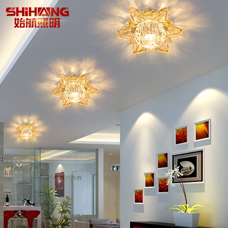 Hang beginning creative led crystal ceiling spotlights aisle lights entrance corridor lights ceiling lights balcony light fixtures t54557.7