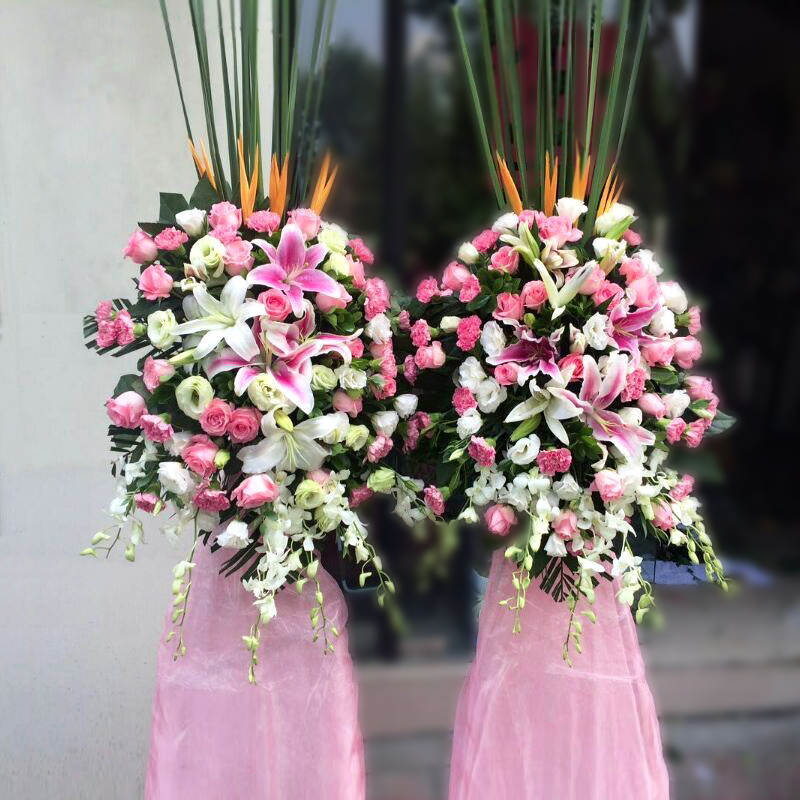 Hangzhou city courier opened opened baskets nationwide florist order flowers housewarming commercial celebration exhibition congratulations