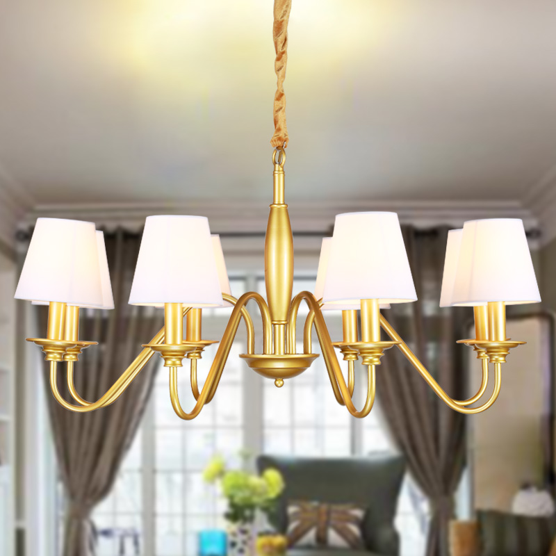 Hansiweinuo chandelier european american country wrought iron lamps modern minimalist study bedroom chandelier lighting fixtures restaurant