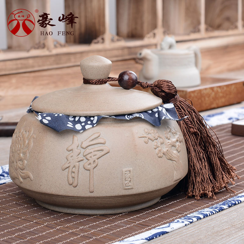 Hao feng ru ceramic tea caddy sealed earthenware stoneware pu'er tea caddy tank food storage cans sealed cans of tea candy jar