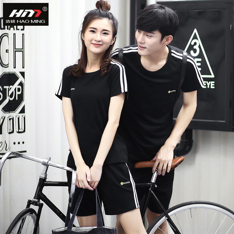 Hao ming ms. couples suite 2016 summer youth sports clothes casual shorts short sleeve t-shirt male suit