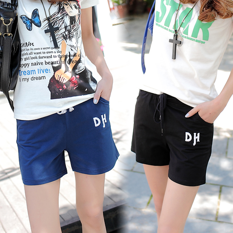 Happiness bloom summer thin cotton shorts shorts female shorts female loose big yards cotton beach shorts female