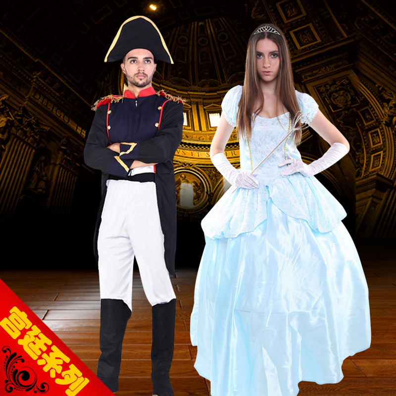 Happy halloween party cos palace napoleon costume adult children will sissy princess dress uniforms costumes