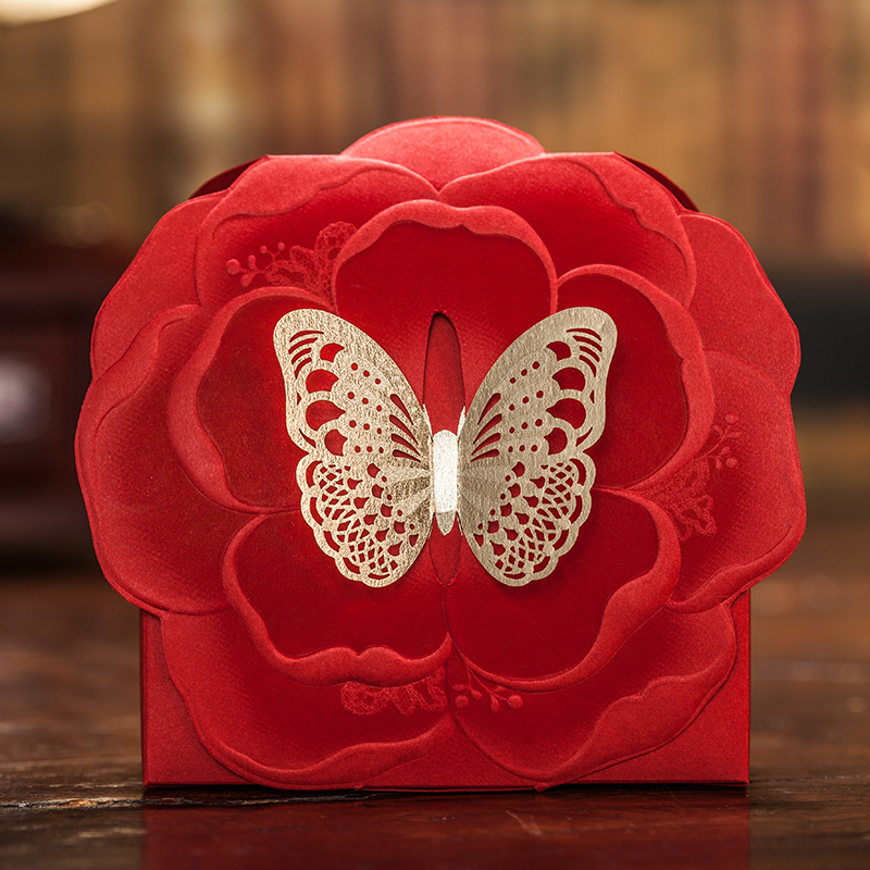 Happycard candy box candy box candy box wedding candy box red chinese style 2015 new