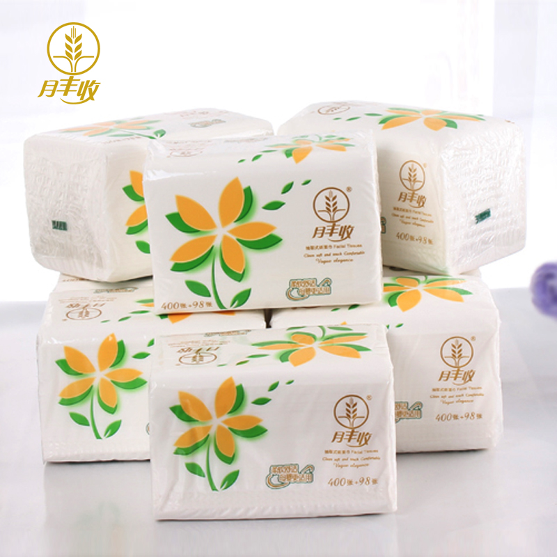 Harvest moon 498 raw wood pulp paper towels removable paper towel 8 pack/lift pumping paper towel