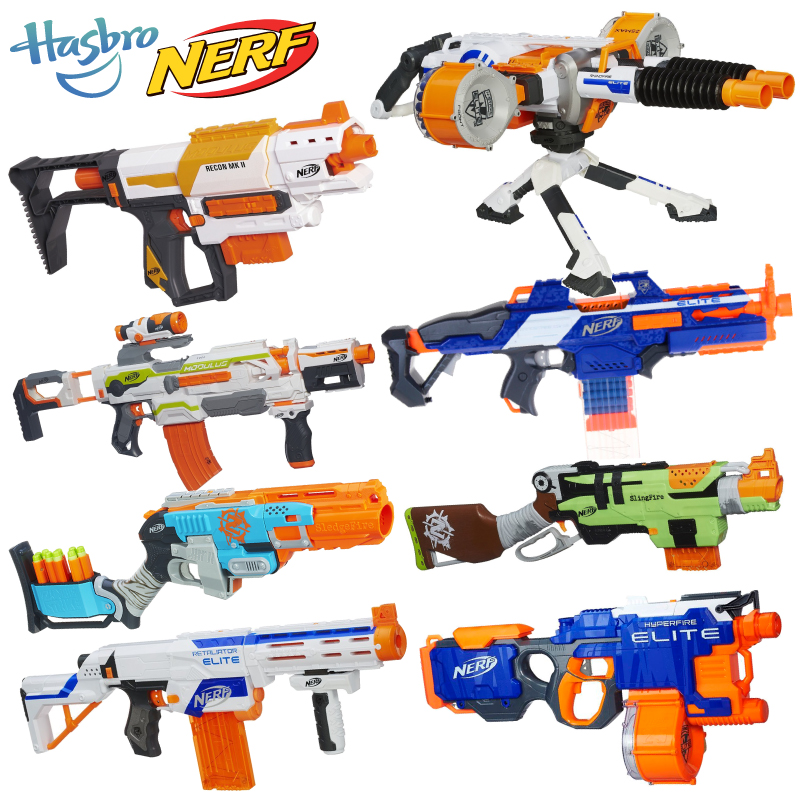 Hasbro nerf heat elite series of soft bullet gun toy gun sniper assault  launchers a0711 dead