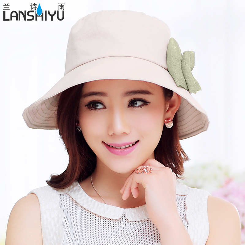 Hat female spring and summer linen breathable sun hat sun hat sun hat korean fashion hats bucket hats beach hat