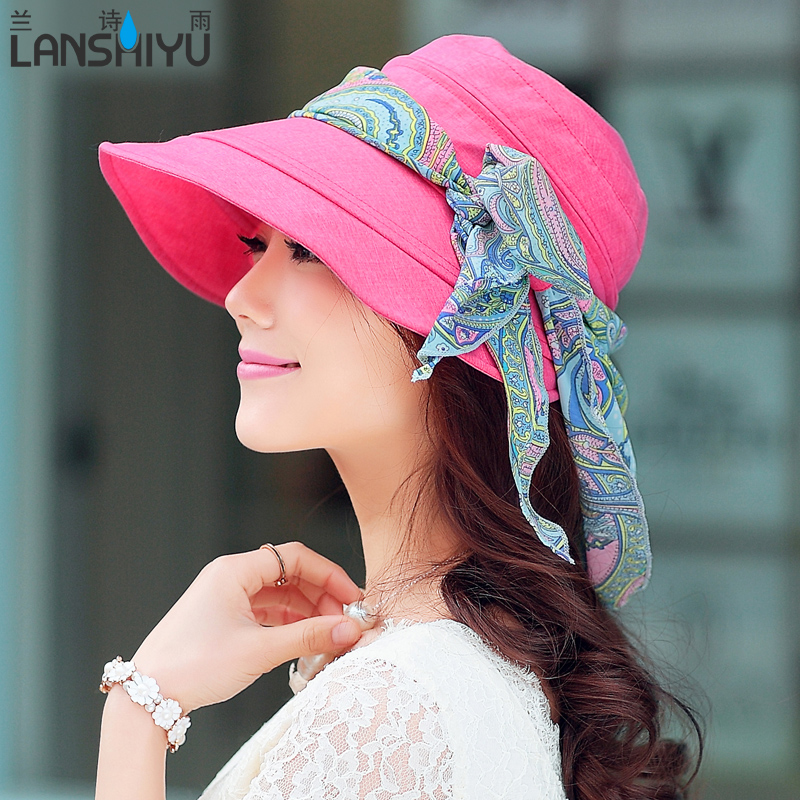 Hat female summer sun hat covering her face ms. visor hat sun hat female summer sun visor hat female spring and autumn