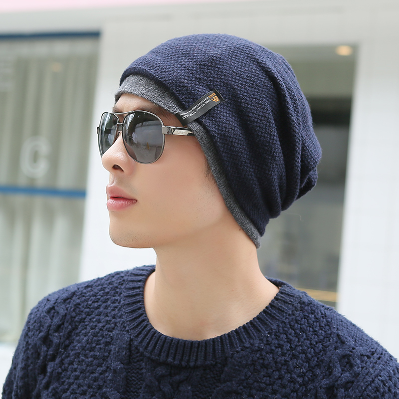 7eeeb9be4da Get Quotations · Hat male korean tidal winter wool hat knitted hat autumn  and winter wool hat caps headgear