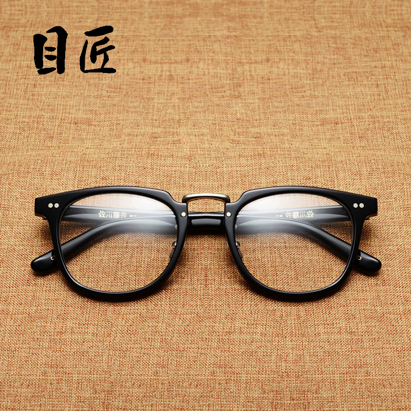 Head carpenter handmade retro finished myopia frame glasses frame men and women finished ultralight eye glasses frame optical glasses frame