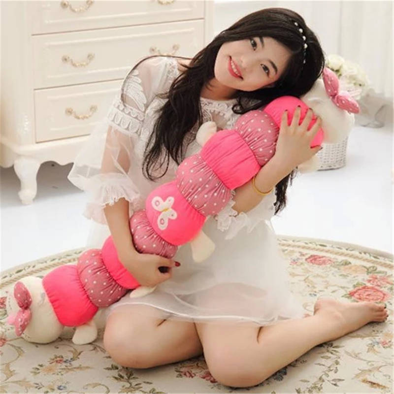 Headed caterpillar plush toy doll long sleep pillow doll doll birthday gift girl child