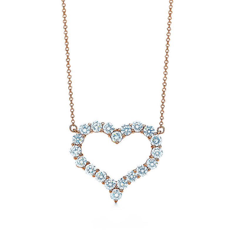 Heart diamond necklace pendant k gold pendant heart the bric'dream' stone female clavicle chain rose gold inlay group
