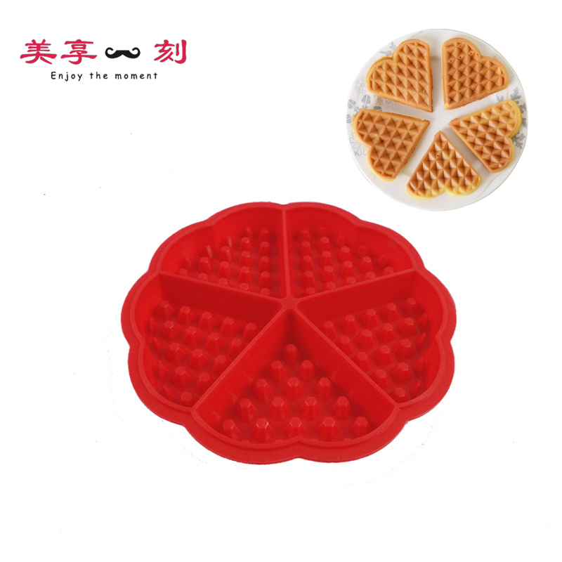 Heart shaped silicone mold waffles muffins waffles waffle mold mold oven baking mold