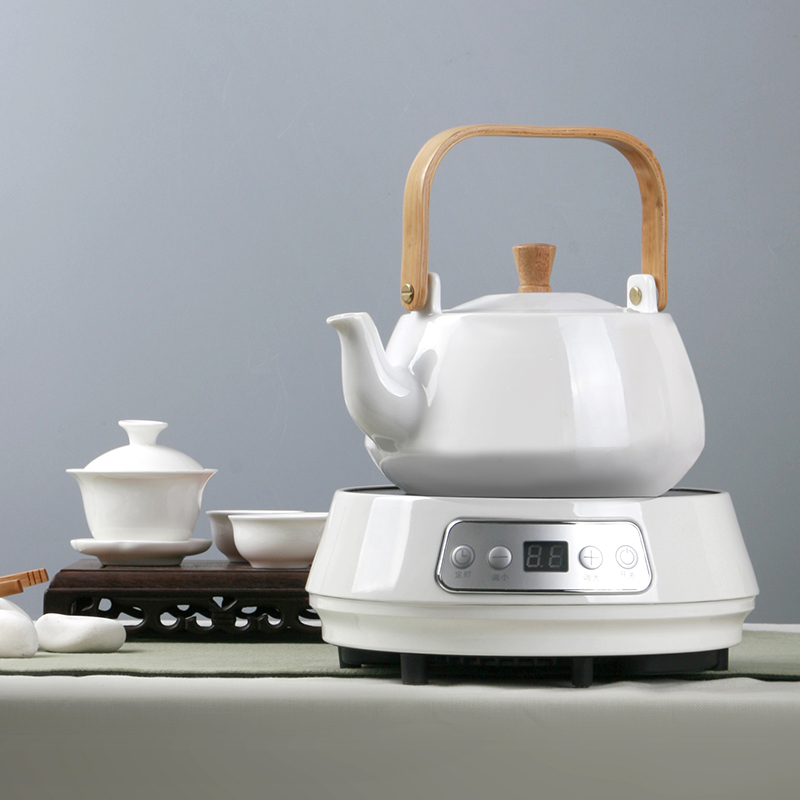 Heat resistant ceramic teapot boiling kettle boiling kettle dual hot and cold tea ti liang pot teapot send electric ceramic heaters