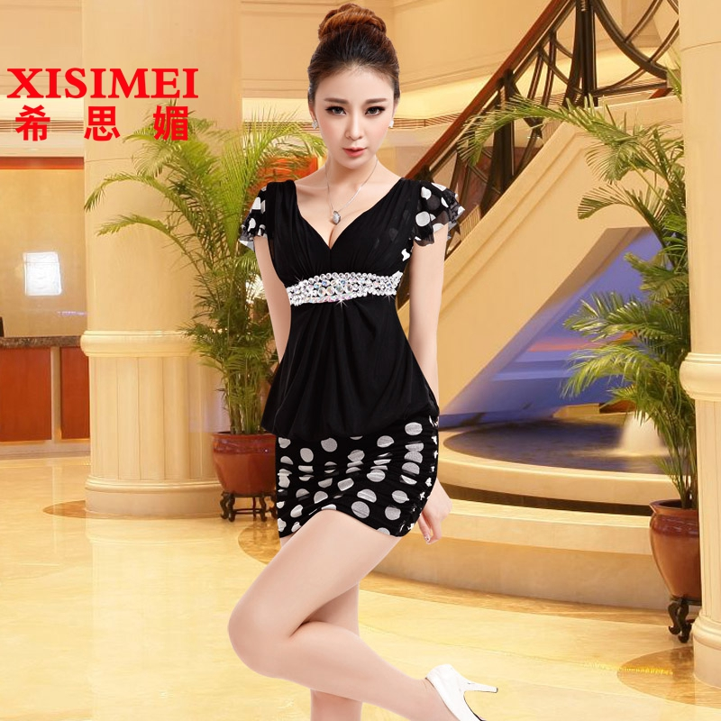 Heath mei 2015 evening dress sexy nightclub bar ktv princess dress sauna foot bath technician miss