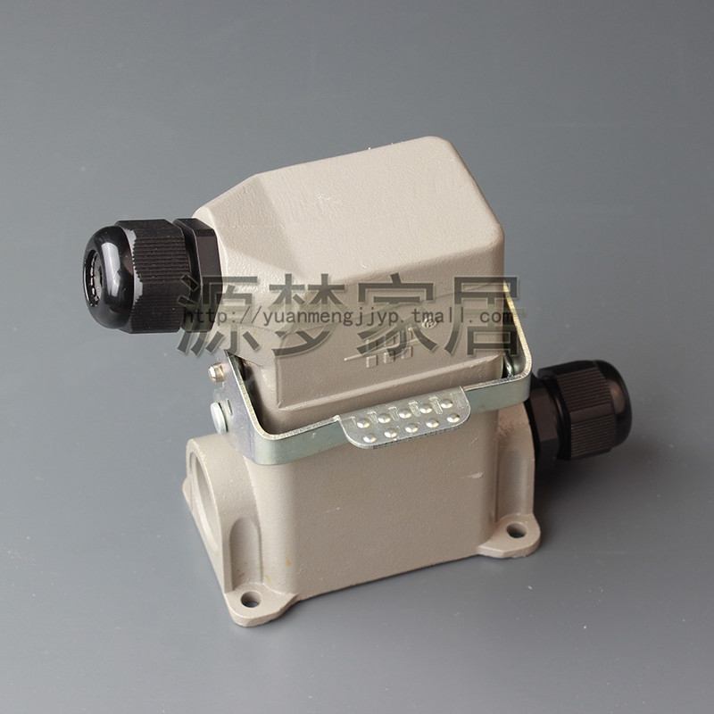 Heavy duty connectors rectangular connectors electrical connectors HDC-HE-006M/f 6 core type 03