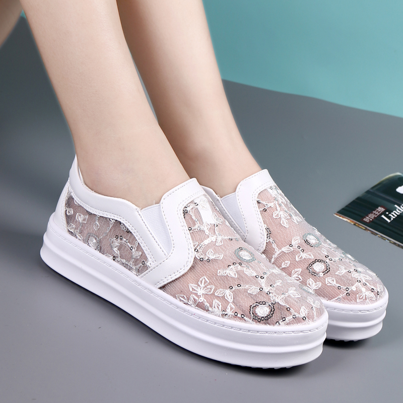 Hedy 2016 korean version of spring and summer knit korean version of the lazy shoes canvas shoes shoes shoes sporty casual shoes women's singles