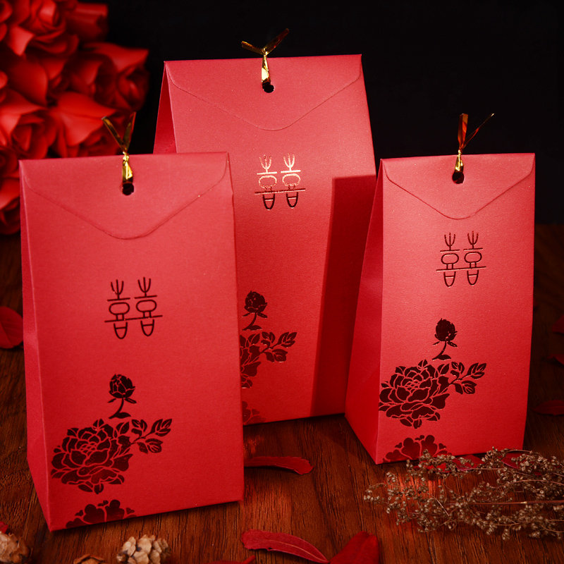 Hei yan wedding supplies creative chinese gilt wedding candy box candy box chinese style wedding candy box carton