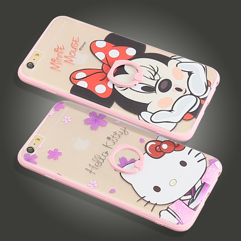 Hello kitty hello kitty apple iphone6s phone shell plus phone drop resistance sets creative cartoon female models